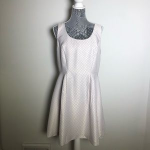 Jacob A Line Black and White Polka Dot Dress